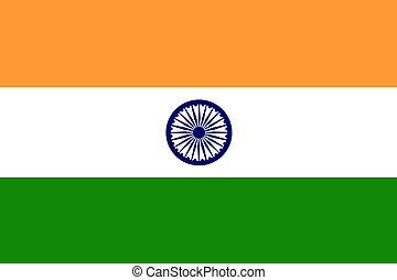 bandeira, de, índia
