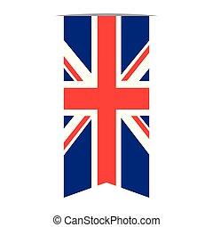 bandeira, de, a, reino unido