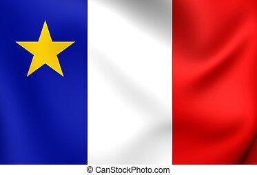 bandeira, de, acadia, canada.