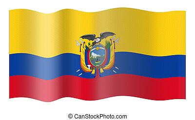 bandeira, de, equador