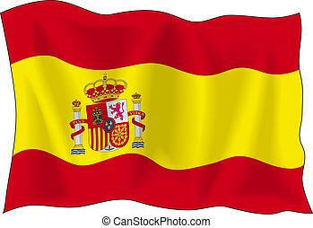 bandeira, de, espanha