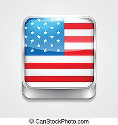 bandeira, de, estado unido