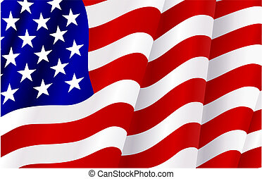 bandeira, de, estados unidos américa