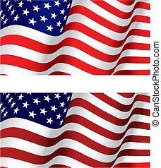 bandeira, de, eua