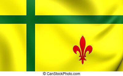 bandeira, de, fransaskois, canada.
