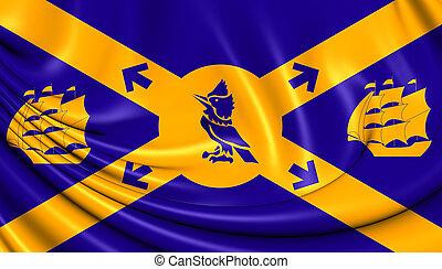 bandeira, de, halifax, canada.