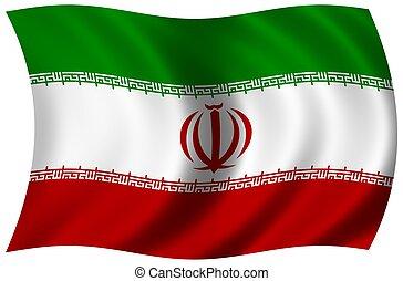 bandeira, de, irã