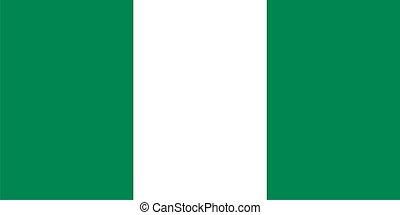 bandeira, de, nigéria