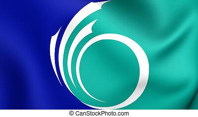 bandeira, de, ottawa, canada.