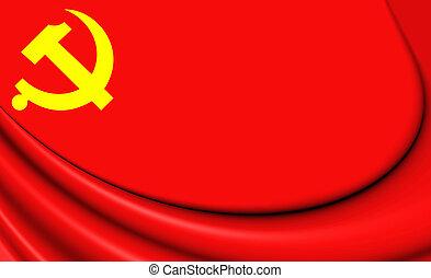 bandeira, de, partido comunista chinês