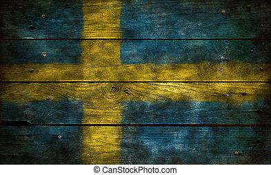 bandeira, de, suécia