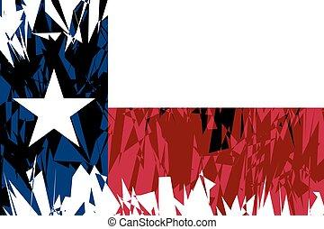 bandeira, de, texas.
