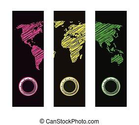 bandeira, desenho, especiais, mapa