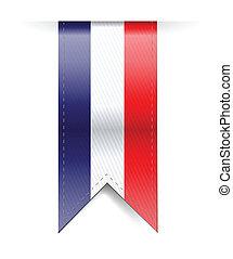 bandeira, desenho, francês, ilustração