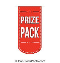 bandeira, desenho, prêmio, pacote