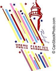 bandeira, estado, de, carolina norte