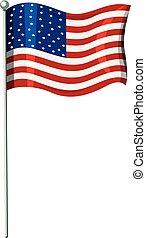 bandeira, estado unido, américa