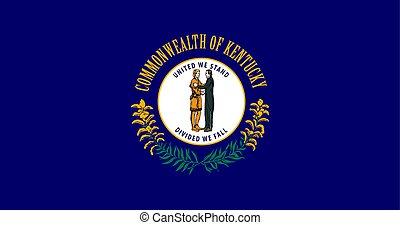bandeira estados unida, vetorial, kentucky, américa
