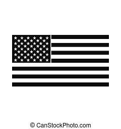 bandeira eua, ícone