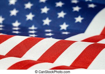 bandeira eua, close-up