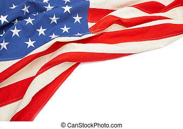 bandeira eua, com, lugar, para, seu, texto