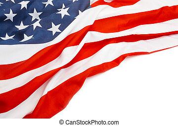 bandeira eua, com, lugar, para, seu, texto, -, cima, tiro estúdio