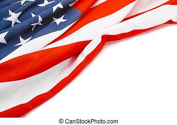 bandeira eua, com, lugar, para, seu, texto, -, tiro estúdio
