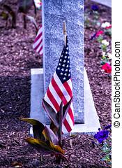 bandeira eua, e, sepultura