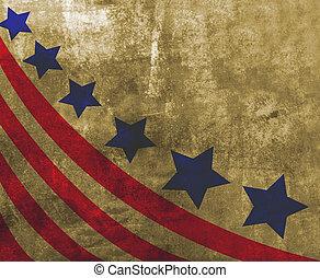 bandeira eua, em, estilo