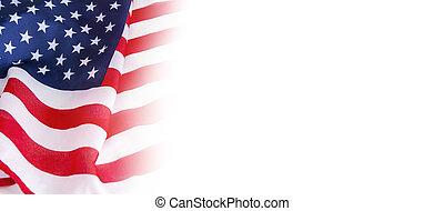 bandeira, eua, fundo branco