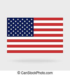 bandeira, eua, isolado, fundo