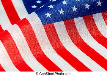 bandeira eua, visão close-up