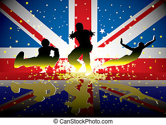 bandeira, figuras, britânico, esportes