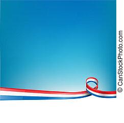 bandeira, fundo, frança