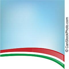 bandeira, fundo, italiano