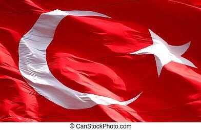 bandeira, fundo, turco