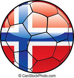 bandeira, futebol, noruega, bola