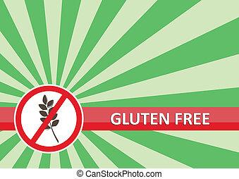 bandeira, gluten, livre