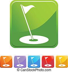 bandeira, golfe
