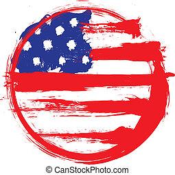 bandeira, grunge, eua