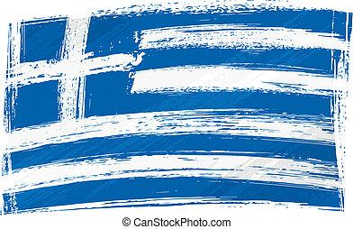 bandeira, grunge, grécia