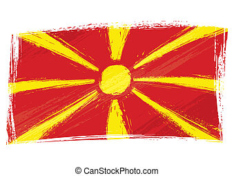 bandeira, grunge, macedonia