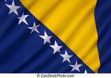 bandeira, herzegovina, bósnia