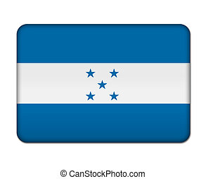 bandeira, honduras, botão