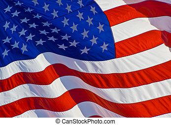 bandeira, inclinado, nós
