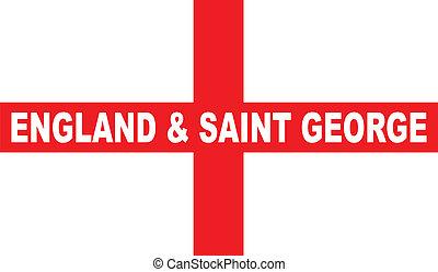 bandeira, inglaterra, george, são