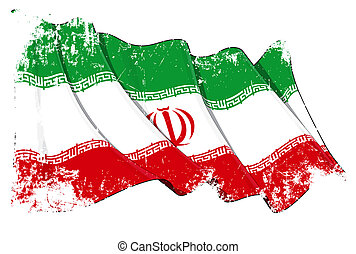bandeira iraniana, grunge