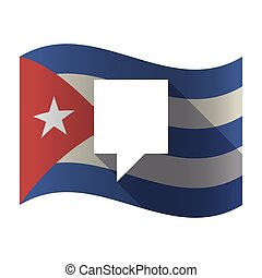bandeira, isolado, tooltip, cuba