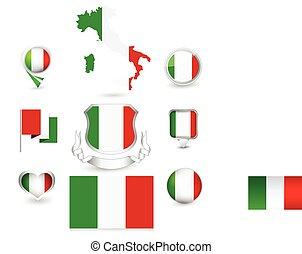 bandeira, itália, cobrança