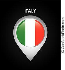 bandeira itália, desenho